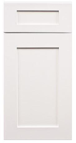 Ice White Shaker Cabinets